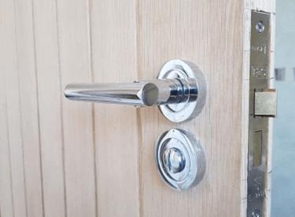 Modern door with locking component